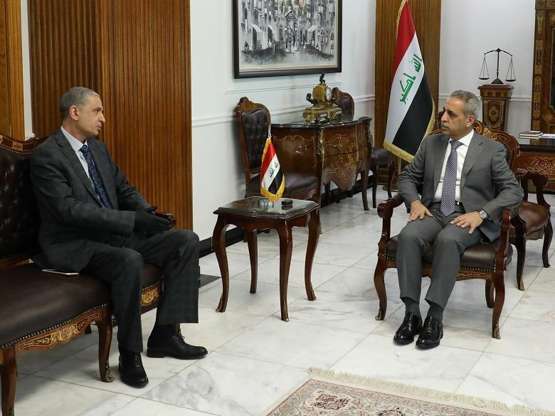 President of Supreme Judicial Council Receives Minister of Interior