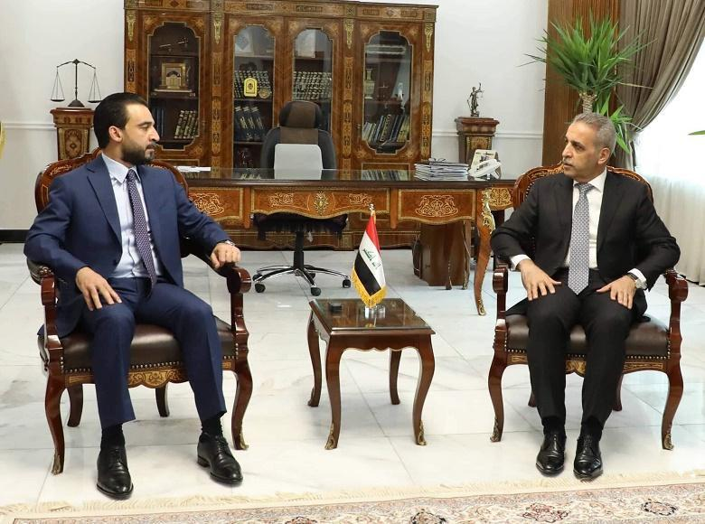 The President of the Supreme Judicial Council receives the Speaker of the House of Representatives