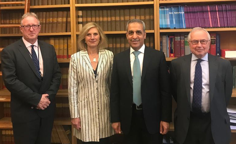 Chief Justice of Iraq, Faiq Zidan, met with Lady Justice Rafferty, Lord Justice Gross and Judge Hatton at the Royal Courts of Justice in London