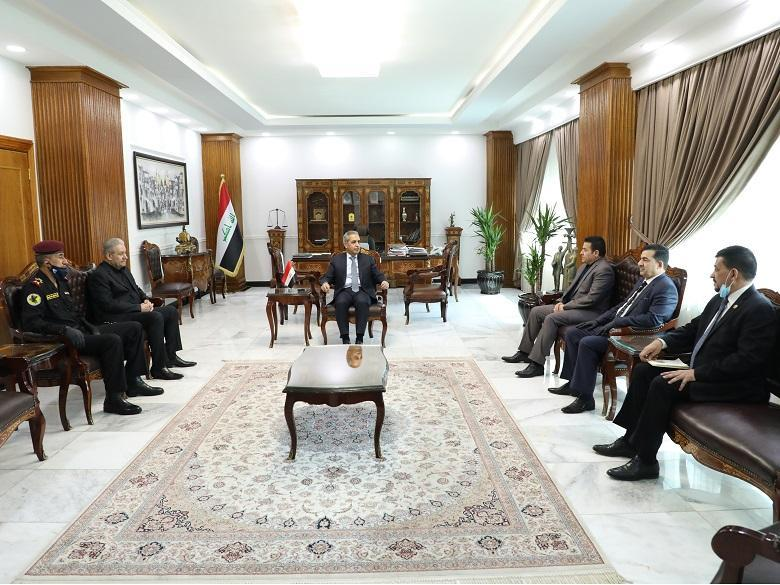 President of Supreme Judicial Council receives Adviser of National Security, Head of National Security Service and Chief of Anti-Terrorist Apparatus
