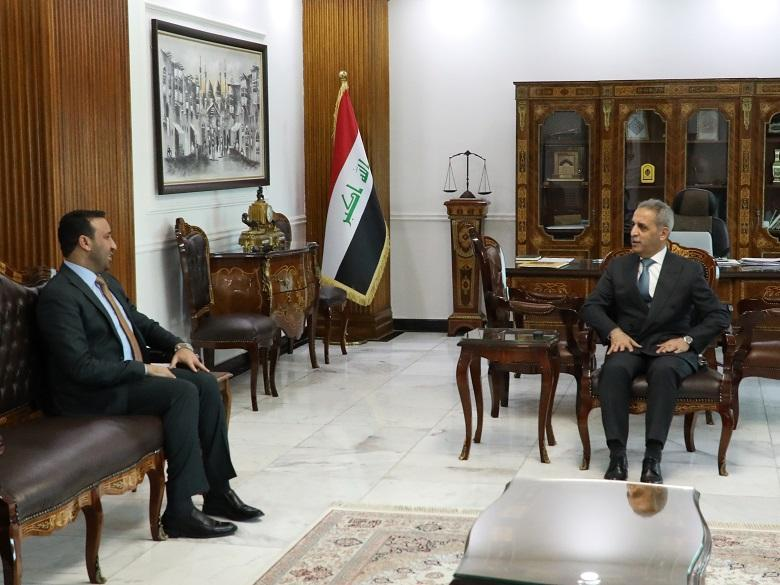 President of Supreme Judicial Council receives President of Trustees Board at Iraqi Media Network